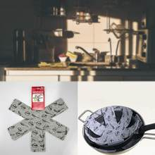 6pcs Pot & Pan Protectors Gray Print Divider Pads to Prevent Scratching Separate and Protect Surfaces for Cookware(China)