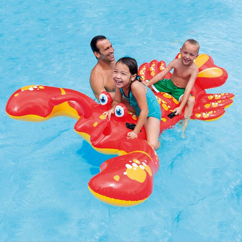 New 213CM*137CM Inflatable Swimming big Ride-on Lobster Pool Floats for 2 Kids Buoy Beach Toys Water Boat Kickboard Party Fun  children animal pool floats inflatable animal floating kids toys swimming boat air mattress beach bed water boat 12 animals