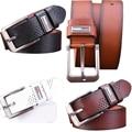 2016 Marcas Cintos Famous Brand Luxury Belt Men Cowboy Male Waist Strap Leather Alloy Buckle Long Strap