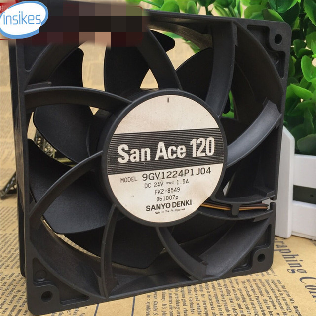 US $39 0 |9GV1224P1J04 Double Ball Bearing Inverter Cooling Fan DC 24V 1 5A  12038 12cm 120*120*38mm 3 Wires -in Replacement Parts & Accessories from