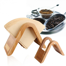 Rack-Stand FILTERING Shelf-Storage COFFEE-FILTER-HOLDER Wood Bamboo 100pcs