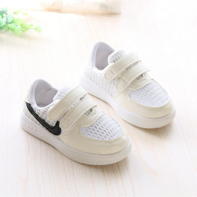 New Spring Summer Children's Sports Shoes Cloth White Hollow Korean 21-30 Mesh Girls Boys Casuals Shoes Kids Running Shoes