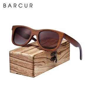 Image 3 - BARCUR סקייטבורד עץ משקפי שמש משקפיים מקוטב לגברים/WomenWood משקפי שמש סקייטבורד אמיתי משקפי שמש עם תיבת משלוח