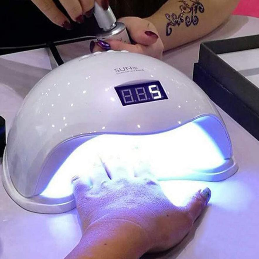 Beauty SUN5 Smart Lamp LED UV Lamp Dryer 48W Dual Nail Dryer Gel Polish Curing Light  Nail Art Tools 11.2 mdskl 48w led uv lamp nail dryer self clocking a minute of rapid drying golden electric nail art tools exemption from postage