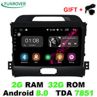 Funrover 9 Inch 2 Din Android 8 0 Car Dvd For Kia Sportage 2014 2011 2009