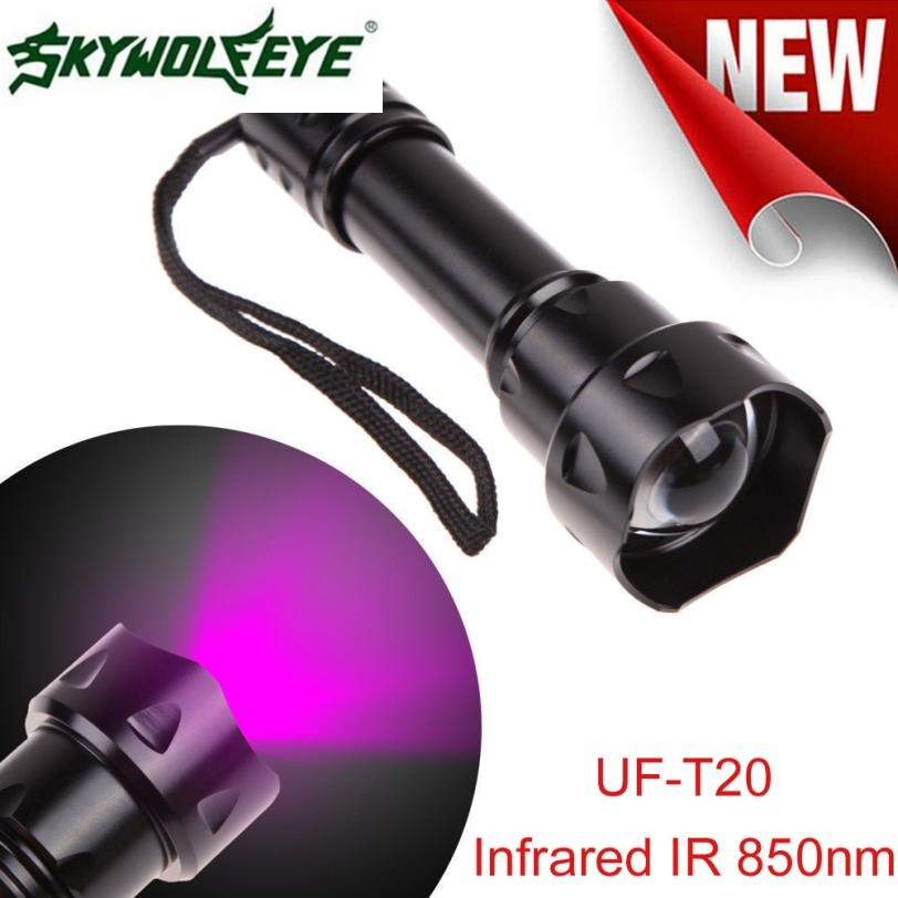 DC 22 Shining Hot Selling Drop Shipping Outdoor UF-T20 Cree Infrared IR 850nm Night Vision Zoom Led Flashlight Lamp direct selling rw7 10 200a outdoor high voltage 10kv drop type fuse