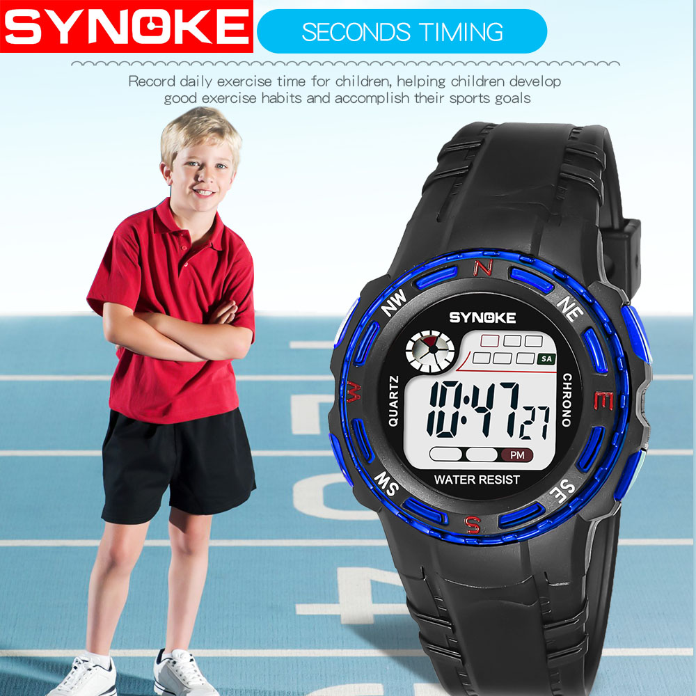 Children Watches Kids Wrist Watch Back Light Alarm 50m Waterproof Student Sport LED Display Digital Watch For Boy Girl Gift