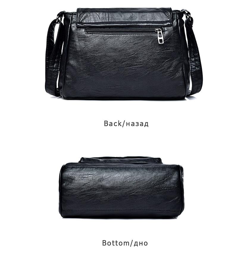 18 Women Messenger Bags Crossbody Soft Leather Shoulder Female Bag Flap Bolsa Feminina Designer Handbags High Quality Brand 18