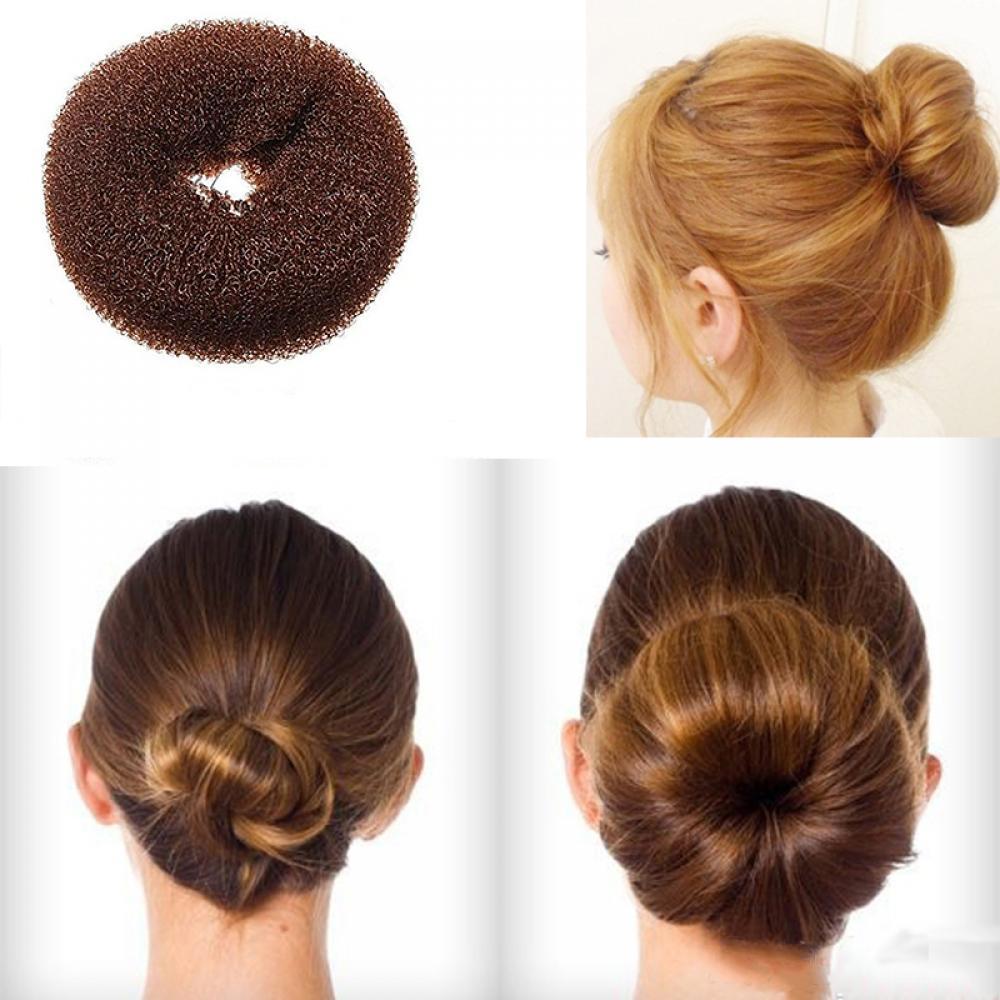 1 pc Lady Girl Magic Blonde Donut Hair Ring Bun Former Shaper Hair Styler Maker Tool