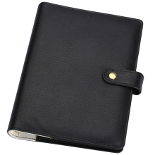 Harphia A5 A6 Agenda Leather Faux Planner Refill Notebook forfilofax PU Spiral Binder Journals Classic Black