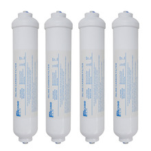 "2""x10 Inch Compatible Inline External Fridge Water Filter For Samsung LG , 1/4"" Quick Push  4 PACK"