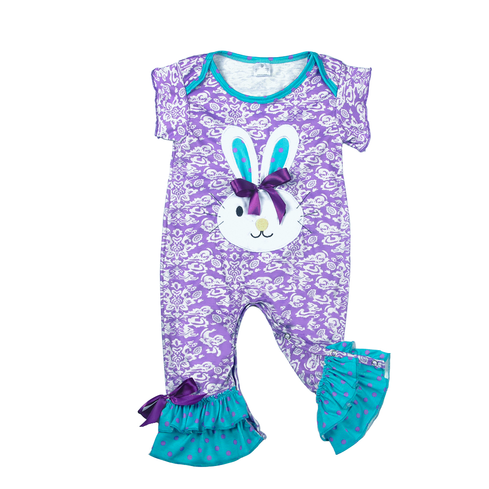 CONICE NINI wholesale Hot Baby Rompers Newborn Spring Cotton Bunny Clothes Infant Children Easter Party Jumpsuits GPF712-028