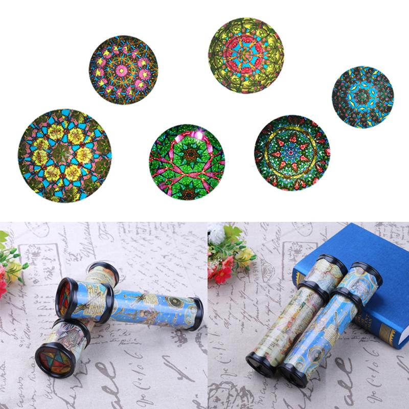 Rotating Stretchable Magic Kaleidoscopes Adjustable Colorful World Preschool Toys Kid Children Fancy Colored World (20cm)