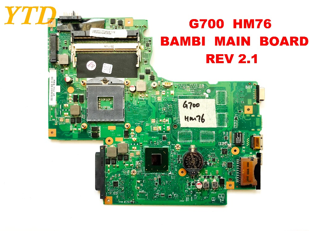 Original For Lenovo G700  Laptop Motherboard G700  HM76  BAMBI  MAIN  BOARD   REV 2.1 Tested Good  Free Shipping