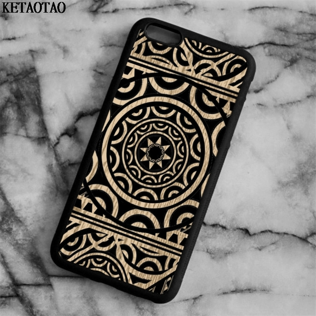 Ketaotao Polynesian Tribal Samoan Pattern Tattoo Phone Cases For