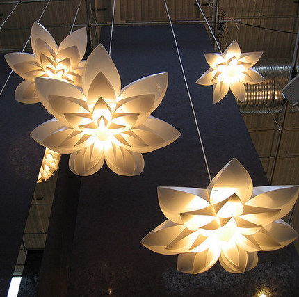 High Quality Lily Flower Lamp Pendant Light PP Shade Diameter 55/70/85CM Lotus Lampshape  DIY Lampshade Bedroom/shops LED Light Fixture In Pendant Lights From Lights  ...