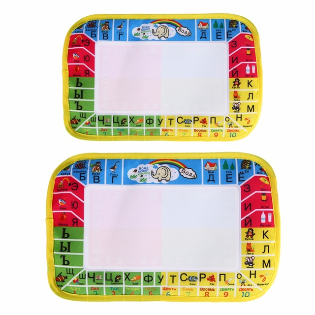 2Sizes Painting Mat Water Painting Draw Writing Mat Kid Russian Language Doodle Board With Pen