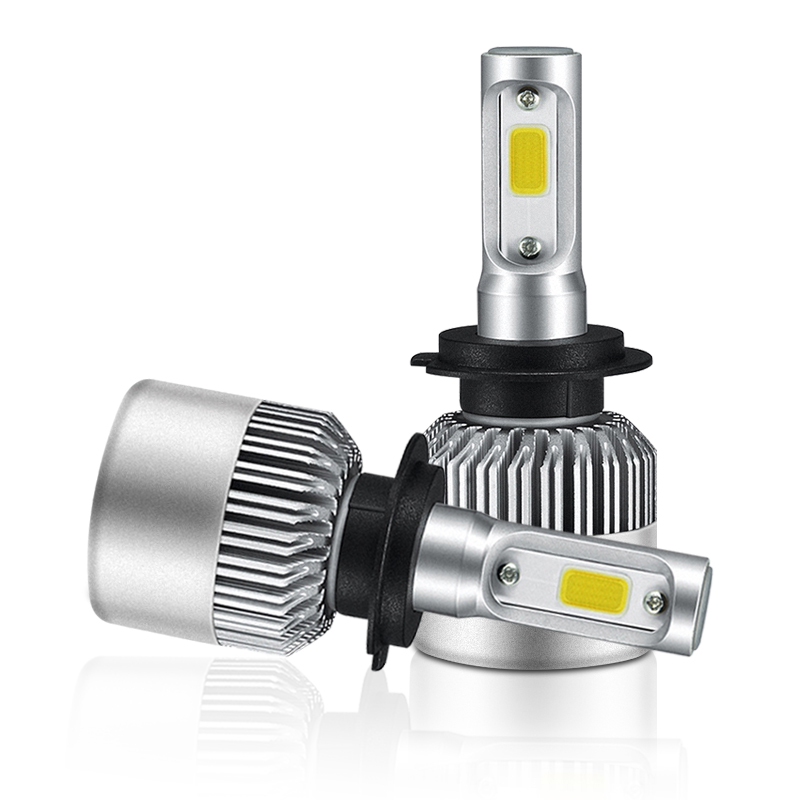Sunmeg S2 Car Headlight H7 led Fog Lights Led H4 Car Bulbs for Auto H1 led 6500K COB Chip 72W 8000LM H8 H9 H11 LED Lamp for Auto