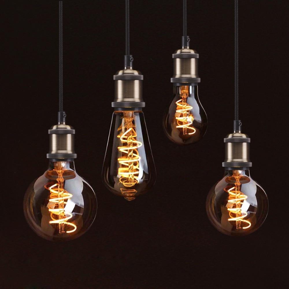 Creative Edison Light Bulb Vintage Decoration Led Filament Lamp Ornaments On Incandescent Circuit Diagram Retro E27 110v 220v Replace A60 St64