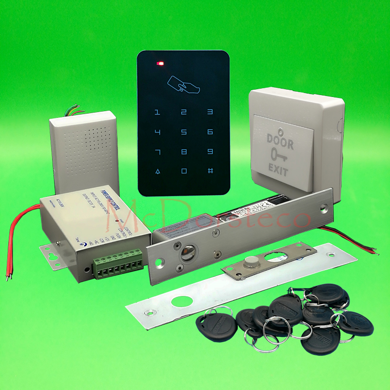 Brand New DIY Rfid Door Access Control Kit Set With Electric Bolt Lock Card Full Wood Door Access Control System brand new diy 125khz rfid door access control kit set with electric bolt lock 10 rfid keyfob card full access control system