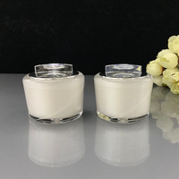 10pcs/lot Free Shipping 10g Acrylic Round Empty Makeup Jar Pot Travel Face Cream/Lotion/Cosmetic Container Refillable Bottles