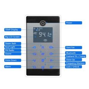 Image 3 - CE 4.5KW AC110/220V Bluetooth Wet Steam Bath Sauna Generator With Shower Spa Accessories Brass Safety Valve Auto Drain Steamer
