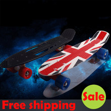 New peny board 22 Skateboard Pnny Board Complete Plastic Mini Skate Longboard Retro Cruiser long skate board for sale hoverboard(China)