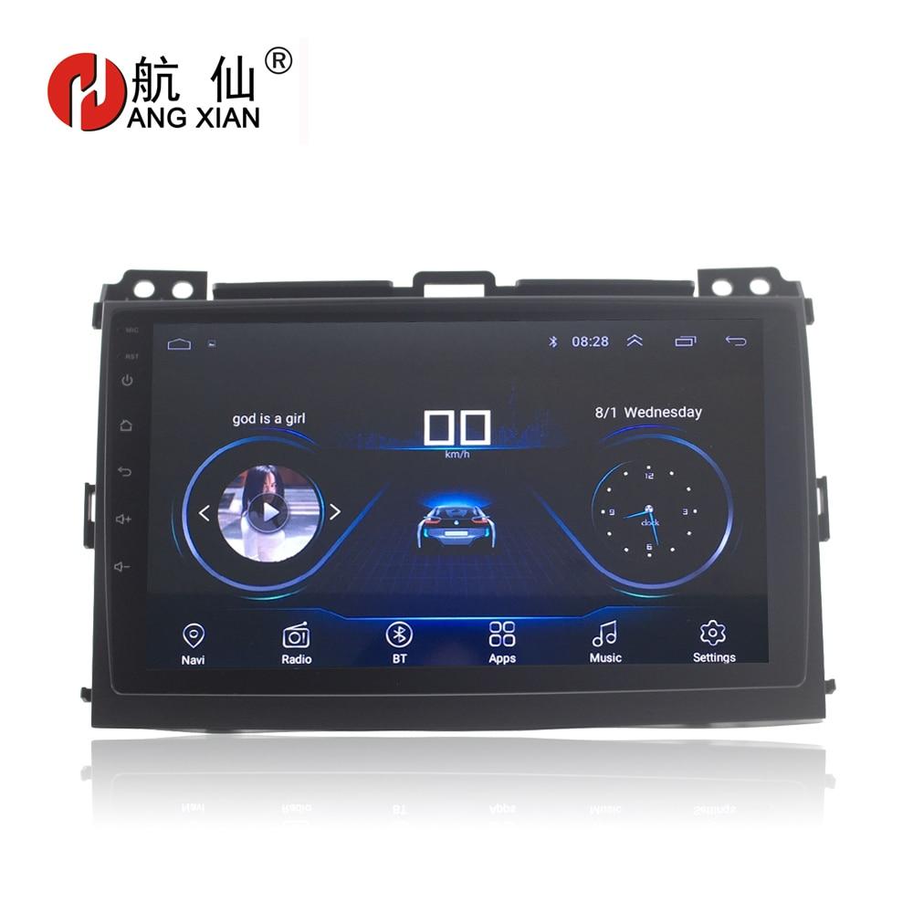 ACCROCHER XIAN 9 Quadcore Android 8.1 autoradio pour Toyota Prado 2004-2009 bas garniture voiture dvd lecteur GPS navigation multimédia de voiture