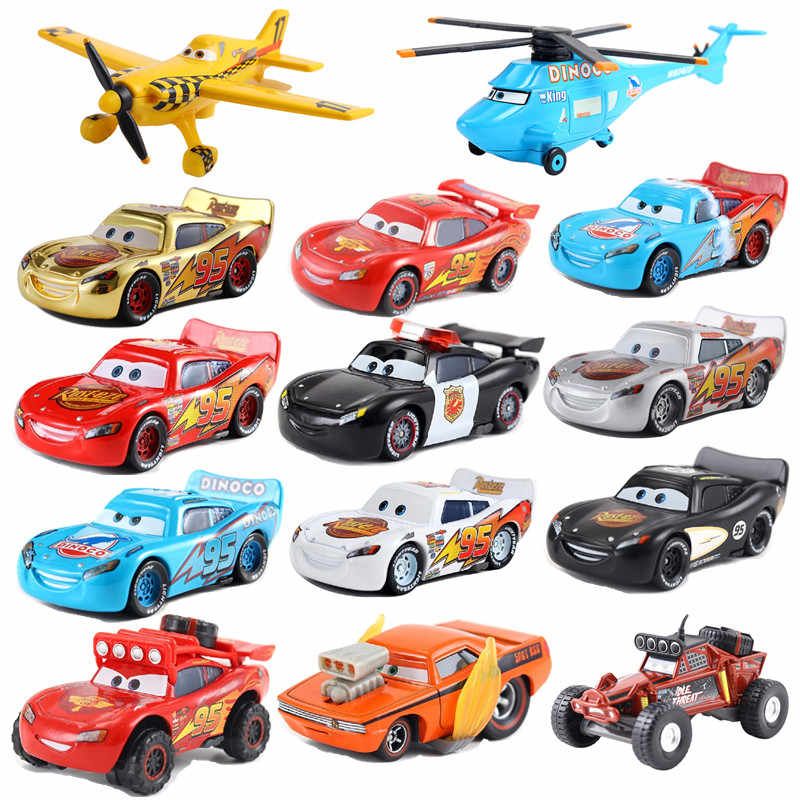 Disney Pixar Car 3 Car 2 McQueen Car Toy 1:55 Die Cast Metal Alloy Model Toy Car 2 Children's Toys Birthday Christmas Gift