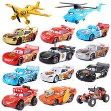 Disney zabawka Pixar 3 samochodów 2 McQueen samochód zabawki 1:55 odlew metalowe zabawkowy Model ze stopu samochodu 2 zabawki dla dzieci urodziny prezent na boże narodzenie