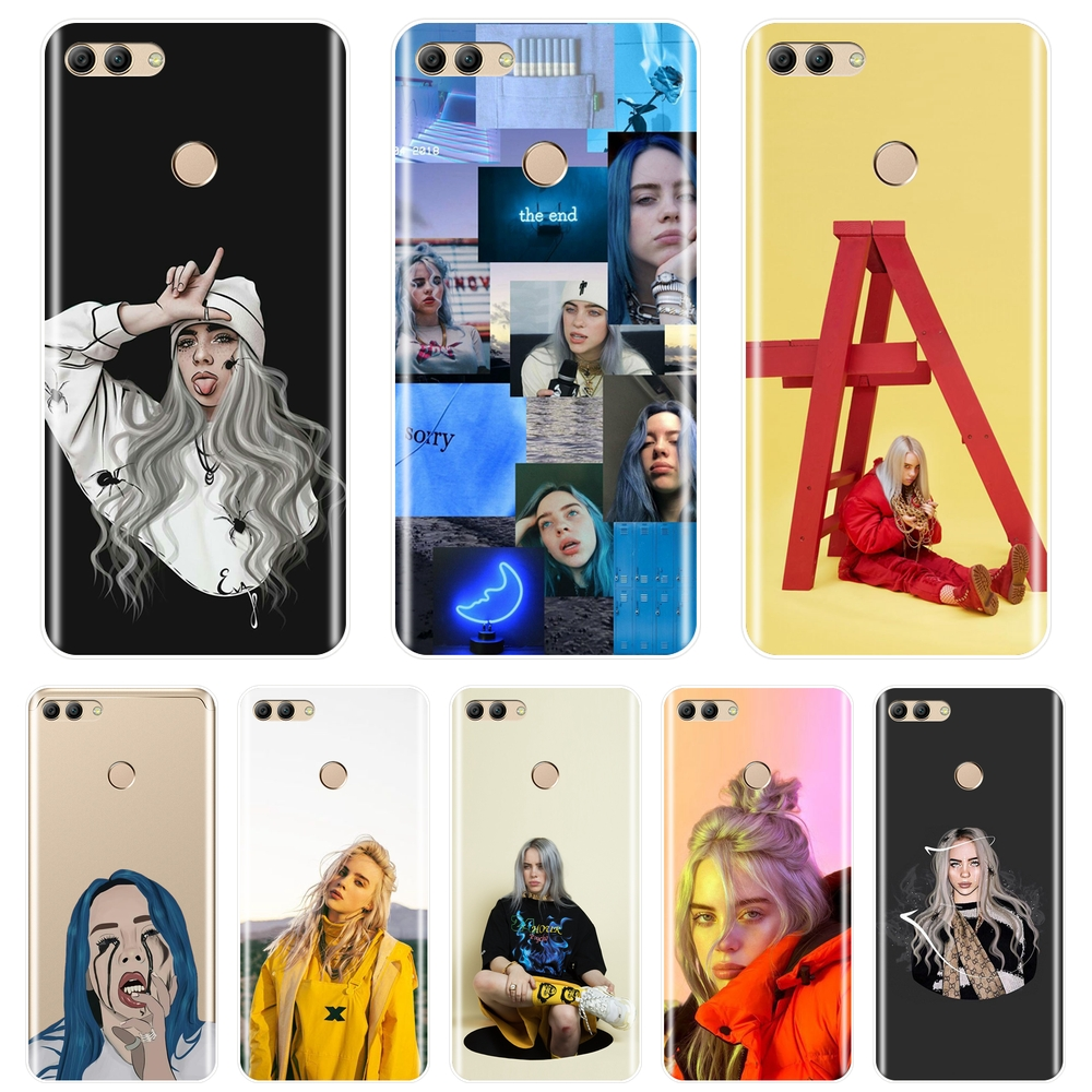 Back Cover For <font><b>Huawei</b></font> Y5 Y6 <font><b>Y7</b></font> Prime 2018 Y9 <font><b>2019</b></font> Soft Silicone Billie Eilish Phone <font><b>Case</b></font> For <font><b>Huawei</b></font> Y3 Y5 Y6 <font><b>Y7</b></font> 2017 II Pro <font><b>Case</b></font> image