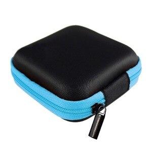 Image 2 - Fio do fone de ouvido Organizador de Cabos de Linha de Dados Caixa de Armazenamento Caso Box Container Coin Fone de Ouvido De Proteção Caso Box Container