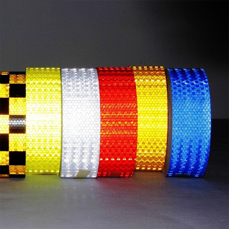 5 см решетки очень Светоотражающие Клейкие ленты Наклейки стайлинга автомобилей Автомоби ...