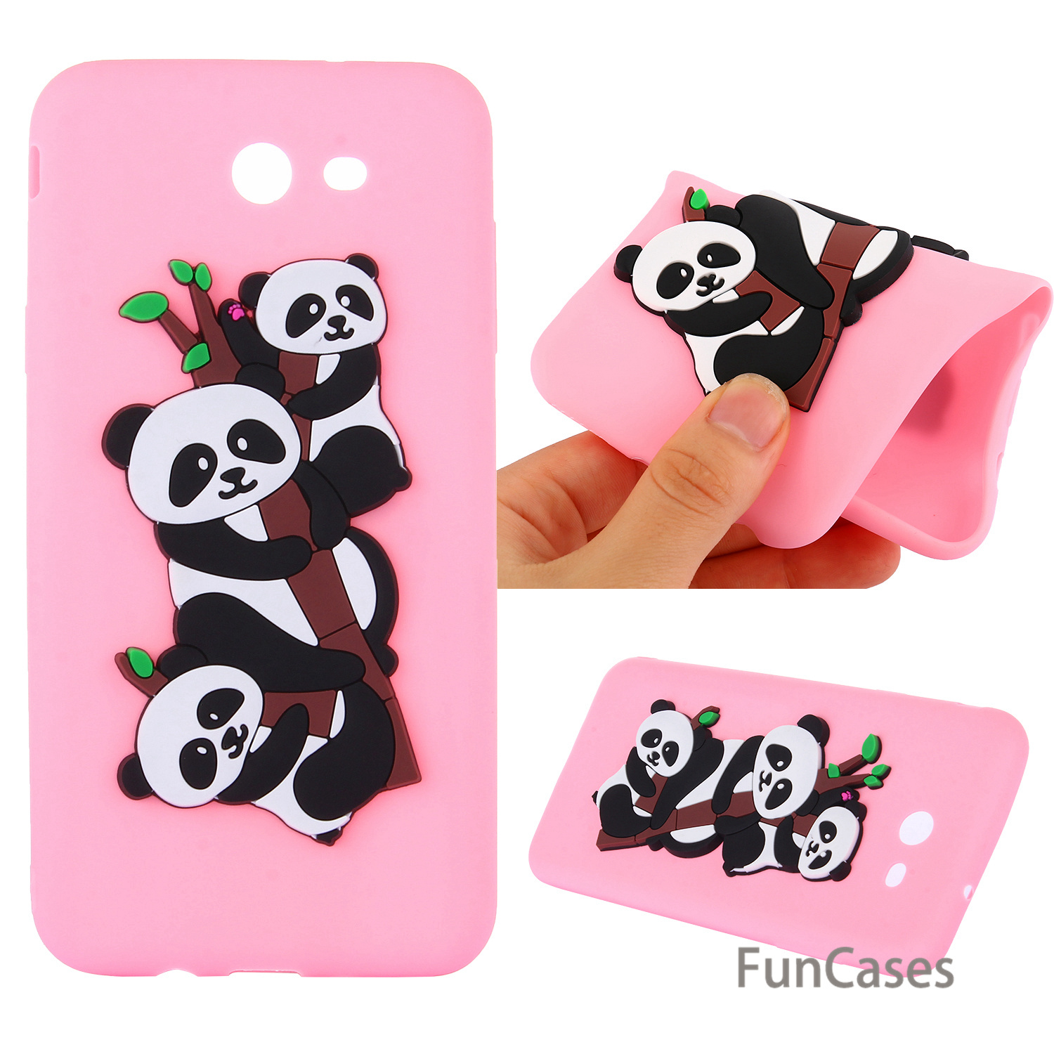 Lovely Panda Case sFor Celular Samsung J7 2017 US version Soft Silicone Back Cover Cellphone Case Samsung Galaxy J720 US version
