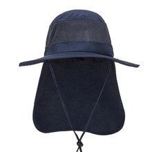 Супер Прочные модные Для мужчин Для женщин Солнцезащитная Кепки шляпа с широкими полями шляпа рыболова с утепленной шеей, клапаном на открытом воздухе спорта на открытом воздухе для верховой езды Equipemnt Шапки V10