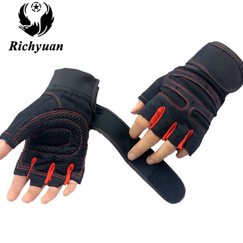 Fitness Gym Gloves Power Luvas Academia Anti-skid Tactical Guantes Protective Crossfit Sports Weight Lifting Gloves