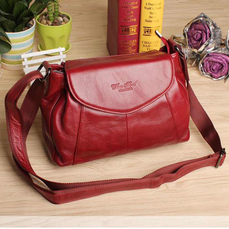 New arrival Hot fashion women messenger bags made by genuine leather high quality female shopping travel shoulder bags handbags 2017 new female genuine leather handbags first layer of cowhide fashion simple women shoulder messenger bags bucket bags