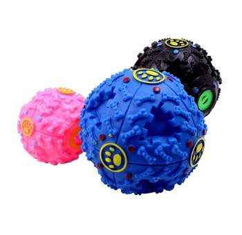 50pcs Pet Puppy Dog Ball Toys Squeaky Quack Sound Chew Treat Holder Funny Play Ball Toys Storage Food Ball S/M/L wen5478