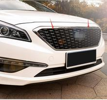 lane legend Stainless Steel Chrome Front Center Grille Around Cover Trim Racing Grills case For Hyundai sontat9 2015-2017
