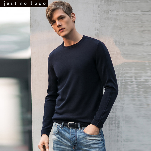 b4e1bc2441f1 Men Long Sleeve Wool Sweater Crewneck Pullover Sweats Winter Outerwear  O-neck Slim Fit Cashmere Jumper Knitted Wear for Men