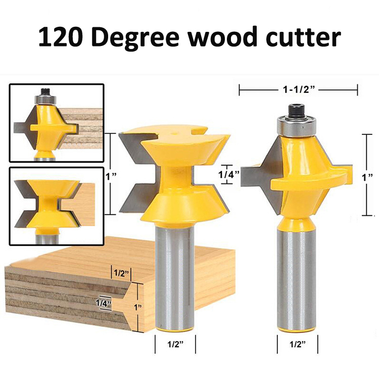 Tungsten Carbide CNC Cutter 1/2 shanks Wood Milling cutter high quality Matched Tongue and Groove Router Bit Set 1pcs round bottom engraving bit 1 2 1 4shank mdf wood tool cnc solid carbide milling cutter tungsten steel wood tool