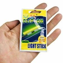 Clip On! Fishing Glow Stick 100Pcs XL L M Fluorescent Light stick Dry Type Luminous Wand Tubes Snap On Fishing Rod Top