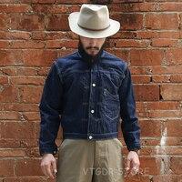 Bronson Ретро 1878 Спецодежда джинсовые куртки Selvage для мужчин классические джинсы Синий