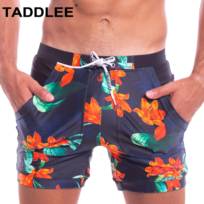 Board Shorts Smart Taddlee Brand Swimwear Mens Boxer Cut Swimsuits Sexy Swimming Bikini Briefs Bathing Suits Gay Surf Board Shorts Trunks Quick Dry