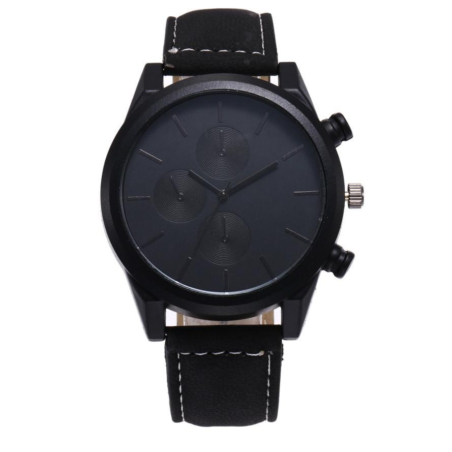 Vintage Watch for man Men Leather Simple Business Fashion Quartz Wrist Watch Bracelets Sports dial Clock Relogio Masculino N40