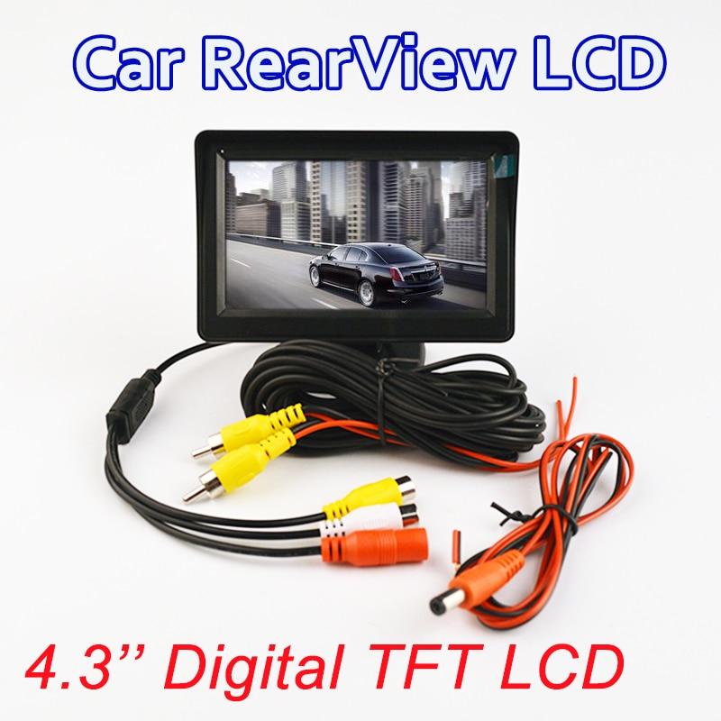 Prix pour Couleur TFT LCD moniteur d'affichage 4.3-pouces De Voiture parking de recul de sauvegarde vidéo PAL/NTSC LIVRAISON GRATUITE
