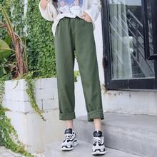 Casual Pantaloni Allentati Donne Pantaloni Primavera del 2019 di Stile  Coreano Streetwear A Vita Alta Pantaloni d8d04529faba