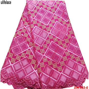 Swiss Voile Lace In Switzerland Cotton Embroidery Lace Fabrics Swiss Voile Lace Fabric Nigeria Woman dress Fabric Sewing SW-363