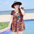 Корейский купальники плюс жирный плюс ярдов собрать Сиамские плоским угол крышка живот был тонкий консервативная спа беременных женщин купальник
