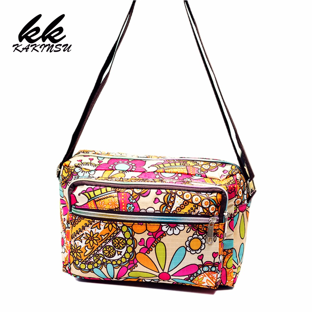 Women Messenger Bags Print Floral Cross Body Shoulder Canvas Hobo Bag Nylon Oxford Fabric Women's Handbag Bolsas Femininas X-770 nowodvorski настенный светильник nowodvorski oslo oak 9312